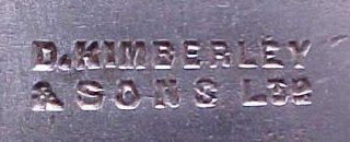 Mark on Cutter of all metal Kimberley Bullnose (courtesy Alex Gilmore)