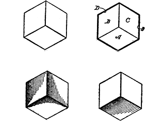 Figs. 101-104. Forms of Cubical Outlines