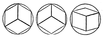 Figs. 115-117. Perspectives of Cubes