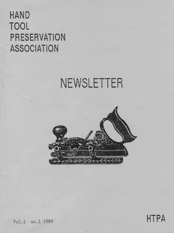 Cover of the first HTPA newsletter