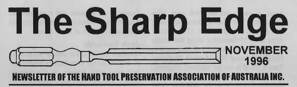 The masthead of the first Sharp Edge August 1996