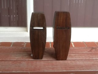 Bottom view of a pair of Kennedy Coffin Smoother Planes