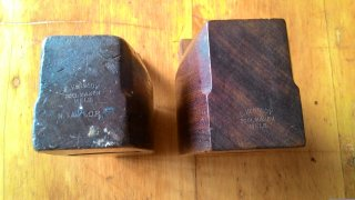 Maker's mark on a pair of Kennedy Coffin Smoother Planes