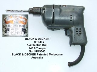 Black & Decker - Utility ¼ inch Electric Drill