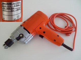 Black & Decker - Model DNJ52, 2 speed, 10mm Electric Drill.  Made in England