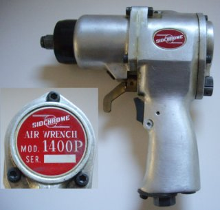 A prototype Sidchrome Model 1400P pneumatic impact driver. This model was never released.
